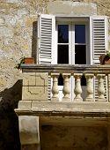 Quaint Little Medieval Balcony poster