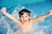 stock photo of swimming  - Activities on the pool - JPG