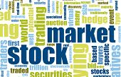Stock Market Terms As a Abstract Background