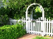 Garden Gate And Picket Fence