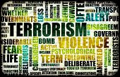 image of terrorist  - Terrorism Alert or High Terrorist Threat Level - JPG