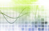 Постер, плакат: Статистика и анализ данных как фон
