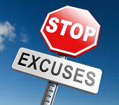 Постер, плакат: stop excuses tell the truth take responsibility and have no regrets Being responsible and taking r