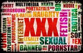 stock photo of x-rated  - XXX Sex Industry Concept Grunge Background - JPG