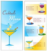 image of cocktail menu  - A cocktail menu template  - JPG