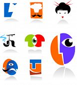 collection of face icons - for additional works of this kind  please visit my gallery