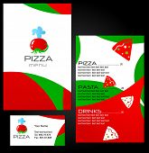 Template of menu for Pizza Restaurant and business card - 8. To see similar menus, please visit MY G