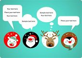 stock photo of rudolph  - Santa Claus - JPG