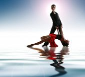 stock photo of bolero  - Young dancers in latin dance pose - JPG