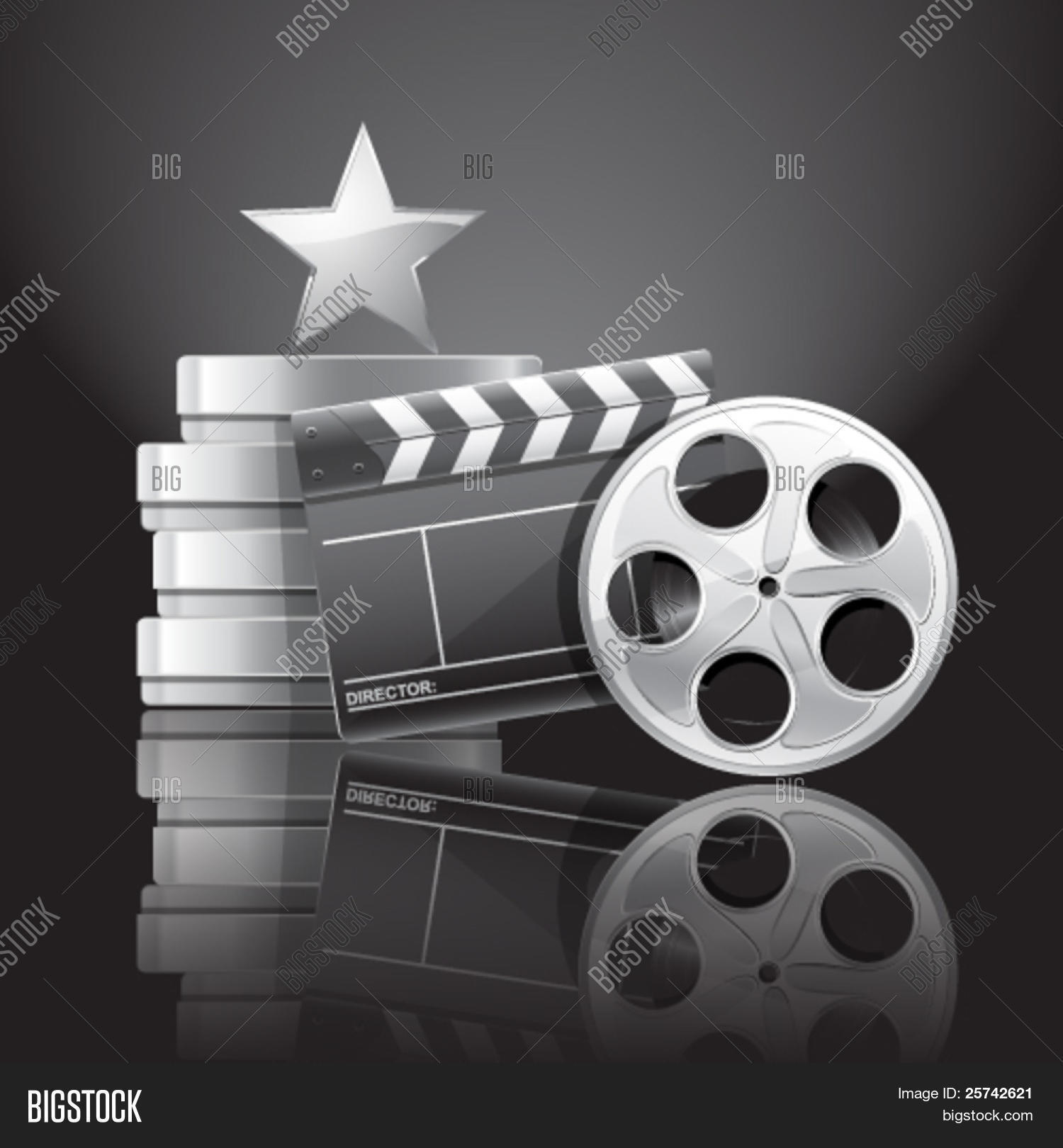 Cinema Composition. Movie Clapper Vector & Photo | Bigstock