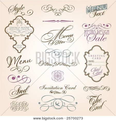Calligraphic design elements