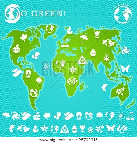 Green Earth Map Illustration
