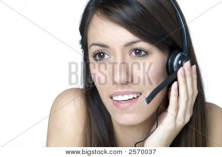 Beautiful Customer Service Woman