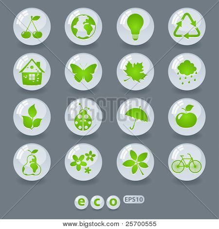 Ecology icons and design elements