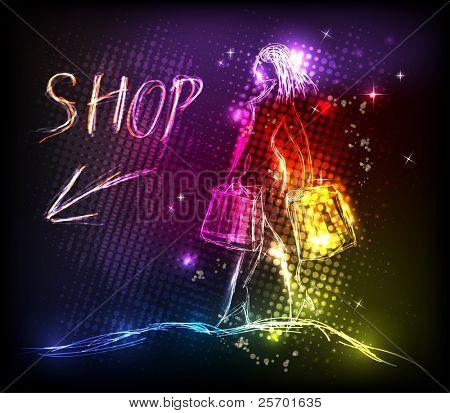 Diseño ligero de la tienda de mujer