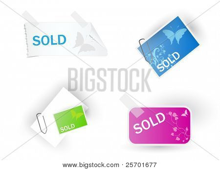 Color modern sale tags