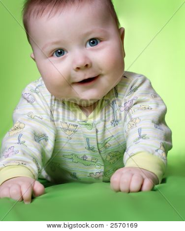 Baby On Green