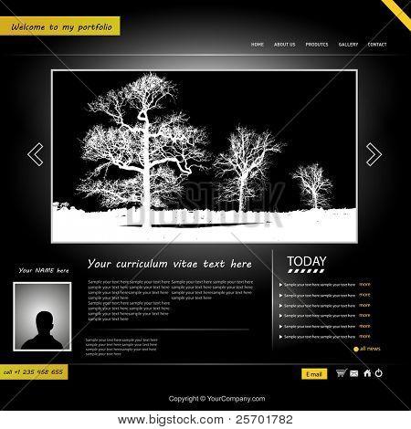 website template, personal portfolio