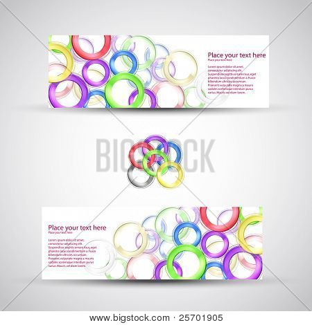 vector set header card design
