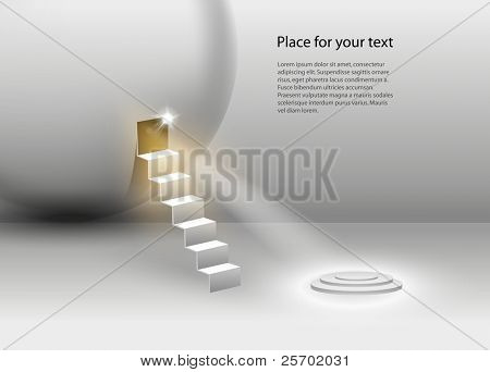 Vector Stage Spotlight with place for your text