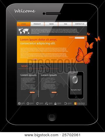 Editable website template, phone design