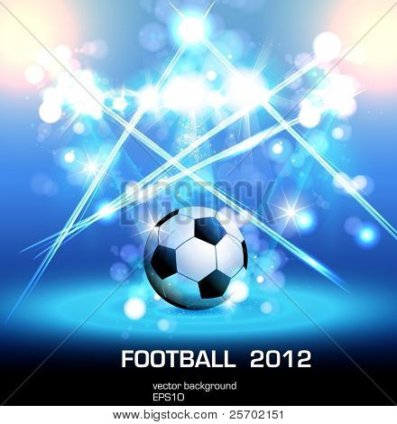 football light poster, easy editable, you can change ball to your product