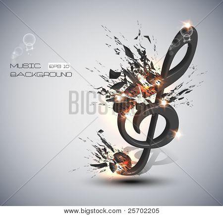 Música Nota melodia fundo