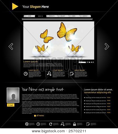 website template for personal portfolio, easy editable