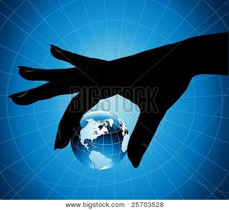 Hand Holding the Earth