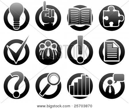 Iconos de los medios de comunicación e información - Vector Icon Set