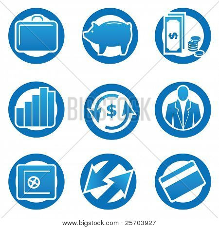 Business en finance icons set