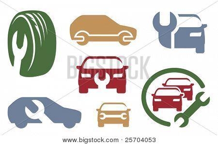 Auto-Reparatur-Elemente