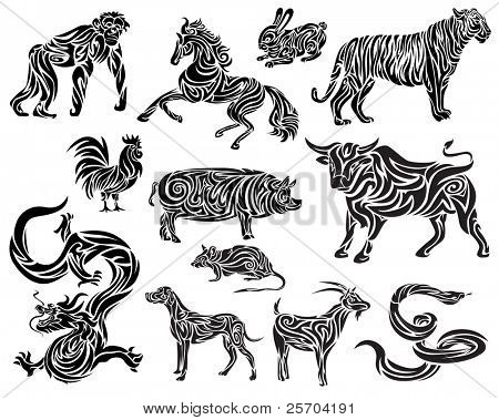 Vector of Chinese Zodiac
