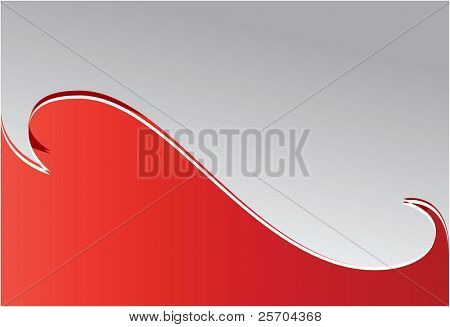Red wave. Background. Vector illustration.