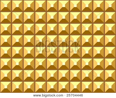 Seamless relief golden pattern. Vector illustration.