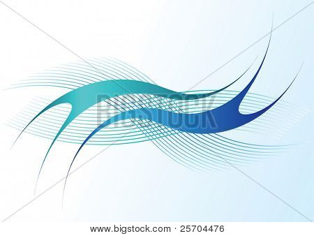 Abstract composition. Vector.