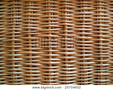 Wicker basket. Background.