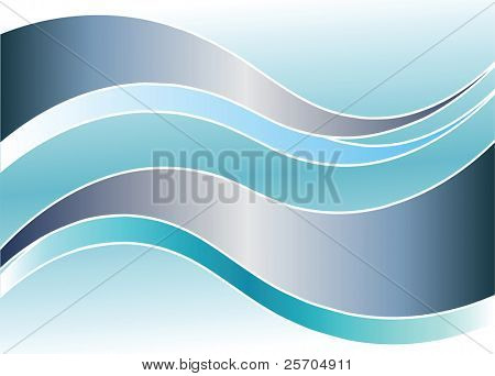 Background with waves. Vector illustration.