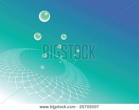 Abstract background with bubbles. Vector.