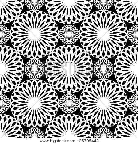 Seamless lacy pattern. Rosette texture. Vector art.