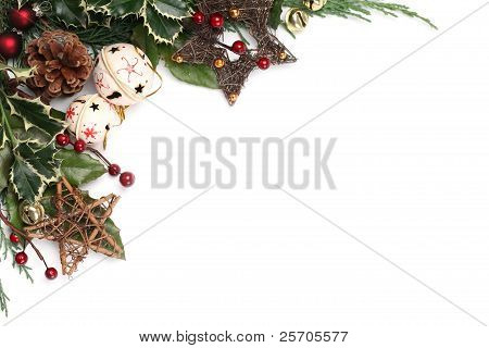 Jingle bell and star Christmas frame