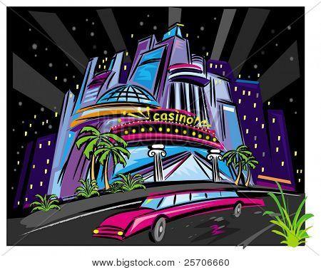 The city night scene