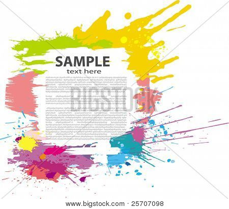 Colorful grunge banner. Vector