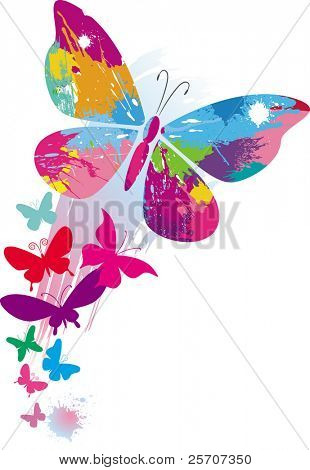 Butterflies and line brushes