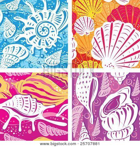 Seamless shell pattern