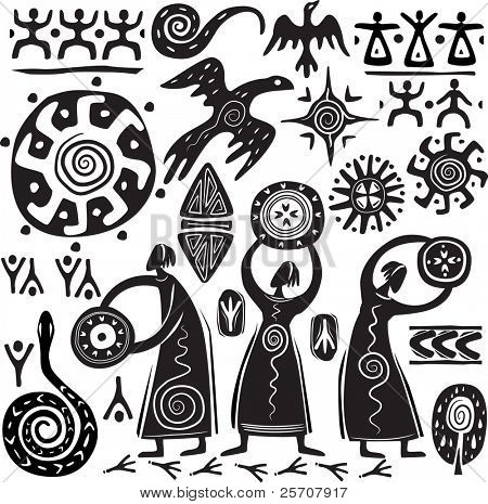 Elements for designing primitive art