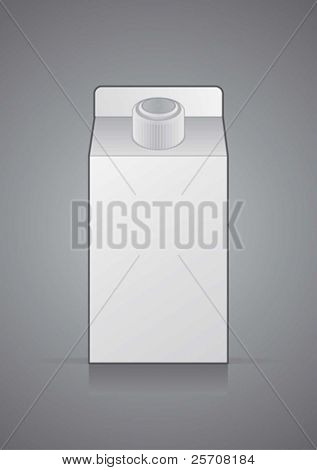 Vector  white package on a gray background, for new design
