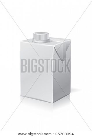 Clear carton package, for new design, vector