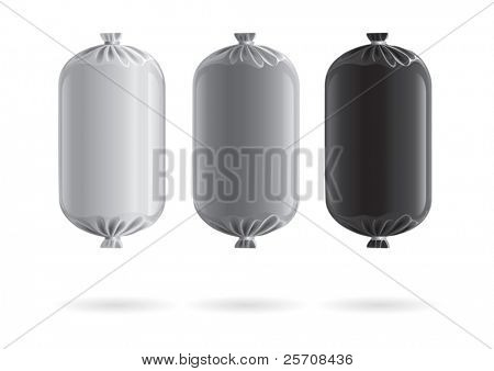 sausage, package for new design, vector