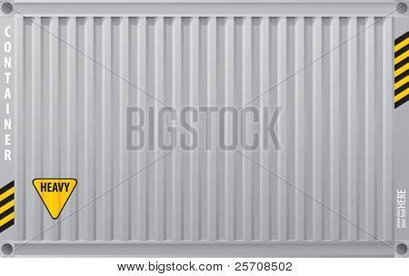 Metall Oberfläche Frachtcontainer, Vector background